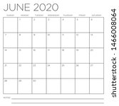 month of june 2020 square wall... | Shutterstock .eps vector #1466008064