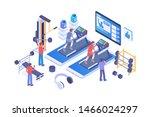 modern isometric exercise...   Shutterstock .eps vector #1466024297