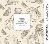 background with orange  slice... | Shutterstock .eps vector #1466024447
