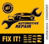 car repair shop sign | Shutterstock .eps vector #146604065