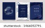 sapphire blue wedding... | Shutterstock .eps vector #1466052791