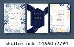 sapphire blue wedding... | Shutterstock .eps vector #1466052794