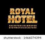 vector golden emblem royal... | Shutterstock .eps vector #1466074394