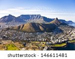 Aerial View Of Cape Town  With...
