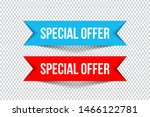 special offer banners with...   Shutterstock .eps vector #1466122781