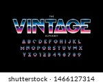 vector of stylized modern font... | Shutterstock .eps vector #1466127314