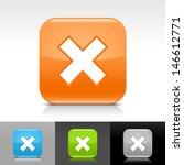 delete icon set. green  gray ...