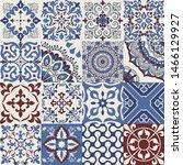 set of 16 colorful tiles... | Shutterstock .eps vector #1466129927