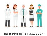 set of doctor cartoon... | Shutterstock .eps vector #1466138267