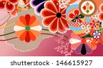 traditional kimono design... | Shutterstock .eps vector #146615927