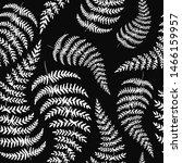 fern black backdrop. hand drawn ... | Shutterstock . vector #1466159957