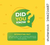 did you know with big question... | Shutterstock .eps vector #1466216687