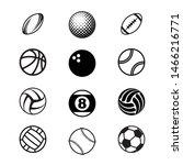 set of different black sport... | Shutterstock .eps vector #1466216771