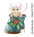 Christmas Funny Little Mouse ...