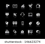 communication icons    silver... | Shutterstock .eps vector #146623274