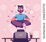 meditation health benefits for... | Shutterstock .eps vector #1466253731