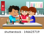 biology,boys,cartoon,chemical,chemistry,children,clip-art,clipart,drawing,education,experiment,female,girl,illustration,kids