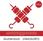 red crossed grilled shish kebab ... | Shutterstock .eps vector #1466262851