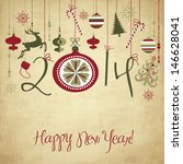 2014 happy new year background.   Shutterstock .eps vector #146628041