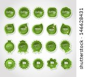 ecology labels set   isolated... | Shutterstock .eps vector #146628431