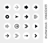 16 arrow sign icon set 01....