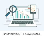 curve going into decline on... | Shutterstock .eps vector #1466330261