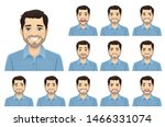handsome bearded man with... | Shutterstock .eps vector #1466331074