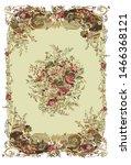 french rug  carpet  roses ... | Shutterstock .eps vector #1466368121