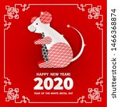 rat is a symbol of the 2020... | Shutterstock .eps vector #1466368874