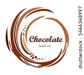 chocolate swirl background....   Shutterstock .eps vector #1466368997