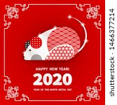 rat is a symbol of the 2020... | Shutterstock .eps vector #1466377214