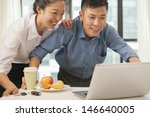 business couple working... | Shutterstock . vector #146640005