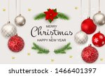 merry christmas and new year... | Shutterstock .eps vector #1466401397