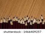 pencils tip on wooden...   Shutterstock . vector #1466409257