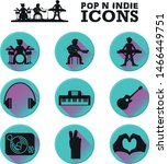 pop and indie music icon set ... | Shutterstock .eps vector #1466449751