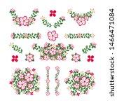 isolated azalea flower elements ...
