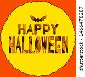 happy halloween   funny cartoon ... | Shutterstock .eps vector #1466478287