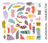 set with paper cut pieces. fun...   Shutterstock .eps vector #1466481734