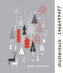christmas card . stylized... | Shutterstock .eps vector #1466499497