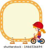 frame design template with girl ... | Shutterstock .eps vector #1466536694