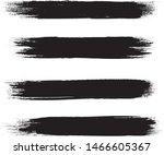 brush stroke set isolated on...   Shutterstock .eps vector #1466605367