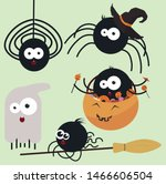 set of different funny and cute ... | Shutterstock .eps vector #1466606504