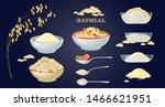 set of porridge in the bowl and ...   Shutterstock .eps vector #1466621951