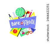 back to school banner  flat... | Shutterstock .eps vector #1466622251