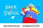 back to school banner  flat... | Shutterstock .eps vector #1466622254