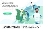 bundle of cute funny volunteers ...   Shutterstock .eps vector #1466637677