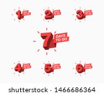 number of days left to go... | Shutterstock .eps vector #1466686364