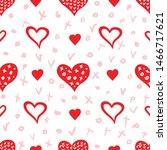 simple hearts seamless vector... | Shutterstock .eps vector #1466717621