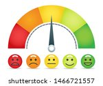 emotion scale. emotions... | Shutterstock .eps vector #1466721557