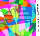 eighties shapes pattern   Shutterstock .eps vector #146673575